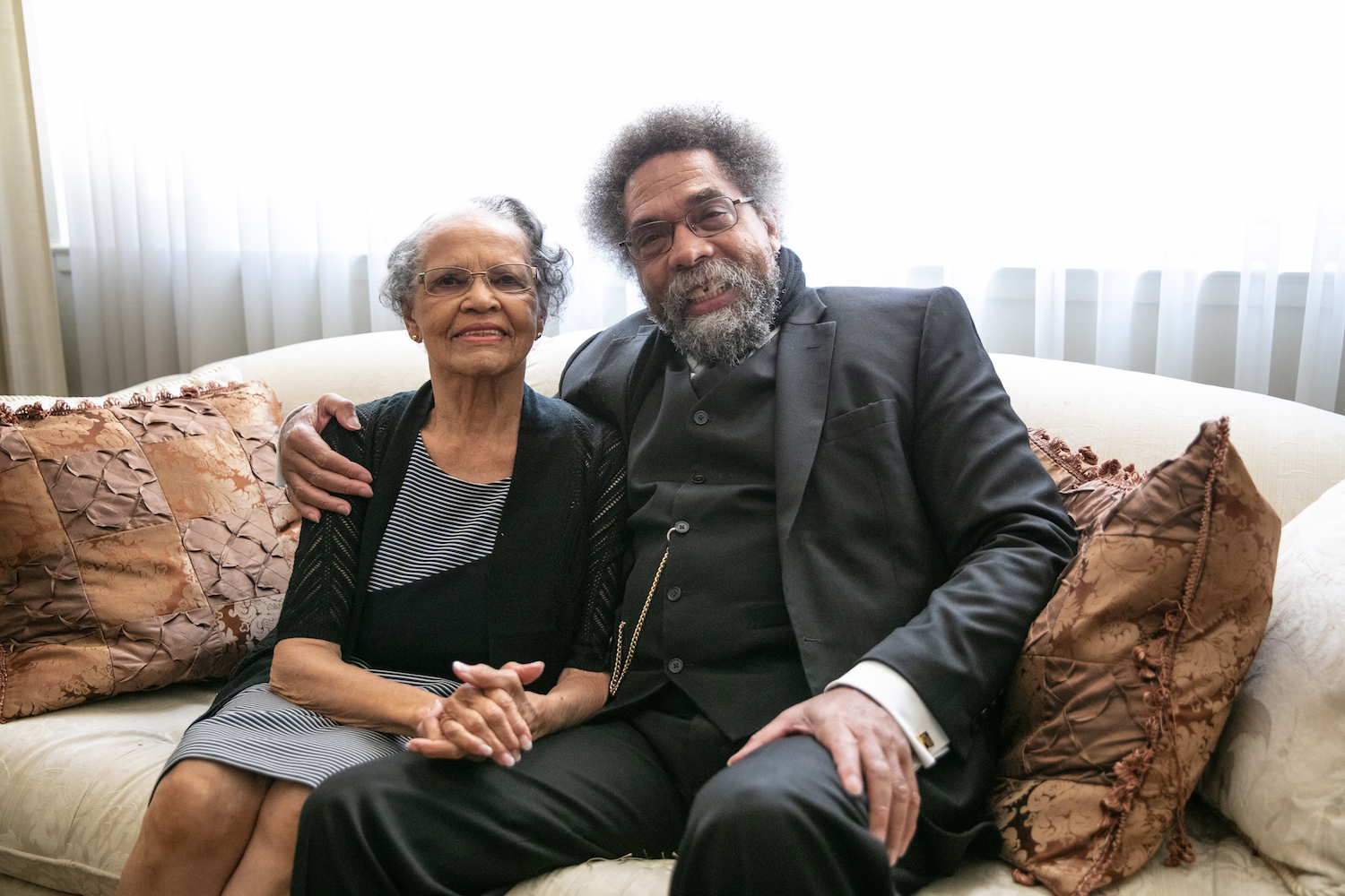 Cornel West And His Mom Irene West In Sacramento, California, July 2, 2019.