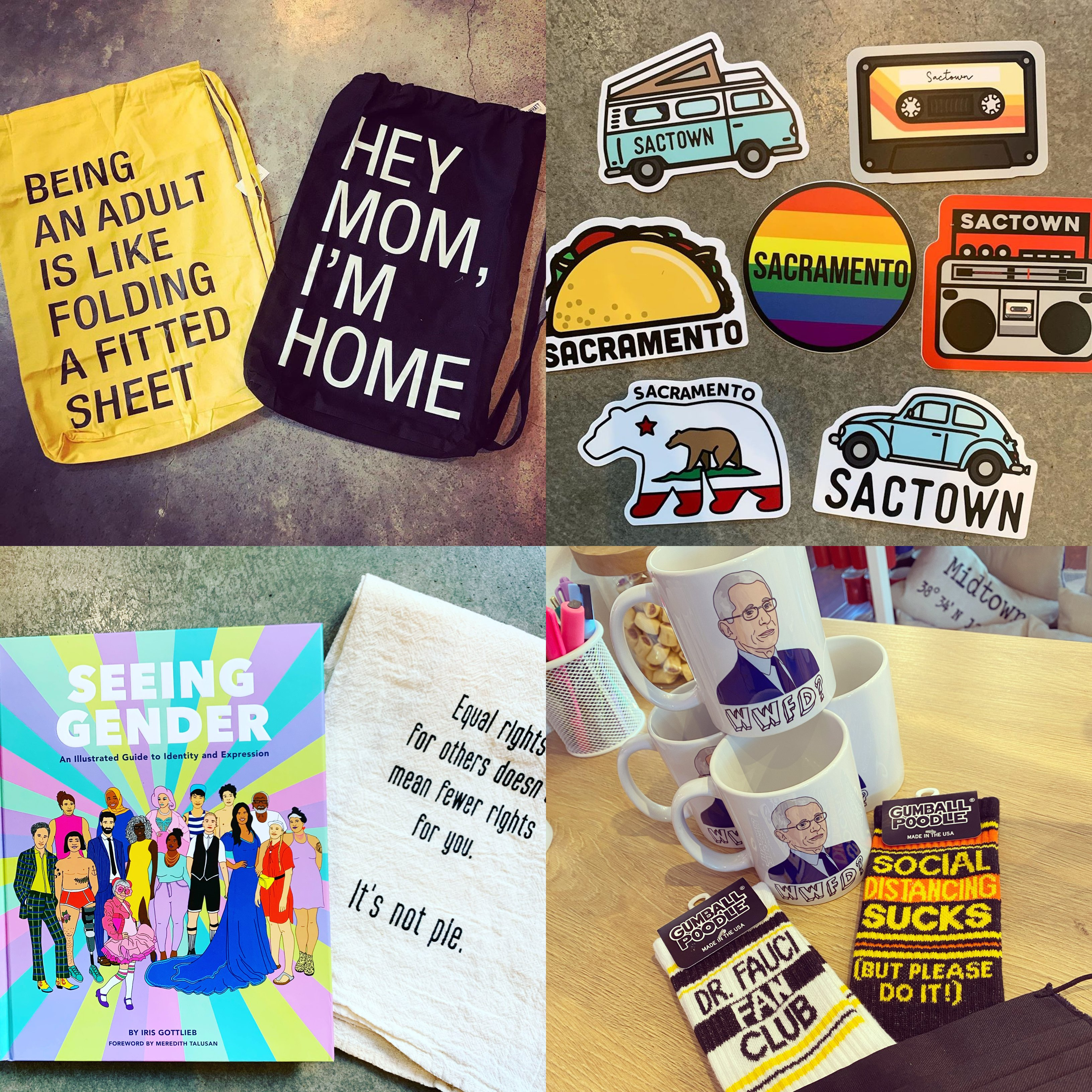collage of gifts from Strapping Store