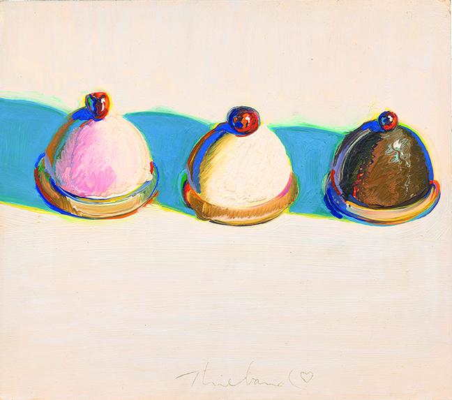 Thiebaud, Three Treats, 1975
